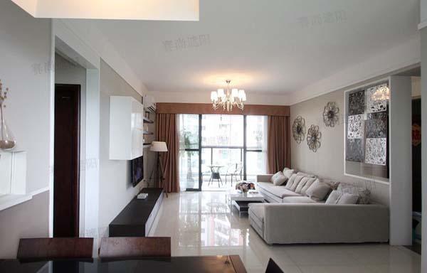 现代简约风格客厅搭配电动窗帘