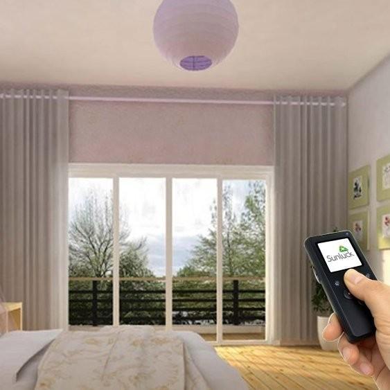 遥控电动窗帘