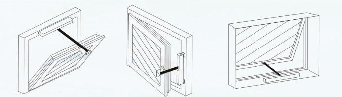 单链条开窗器结构示意图