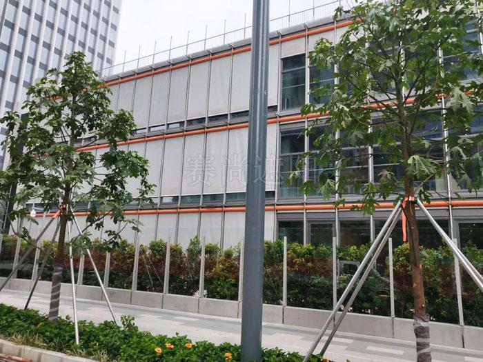 深圳前海G30荟同国际学校织物外遮阳工程实景照片