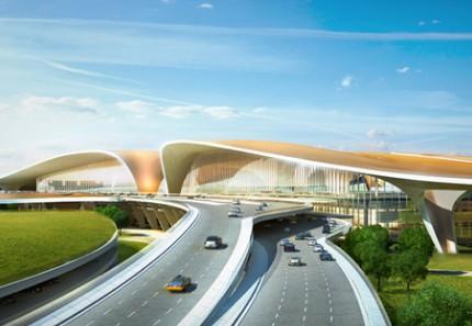 北京新机场房建二标段外装户外电动卷帘工程